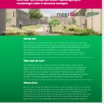 flyer voor werving, meer&deel CPO Eindhoven Vredeoord
